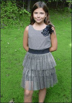 Zoe Ltd Quot Ode To Betsy Quot Sparkly Mesh Skirt Amp Feathers Tween