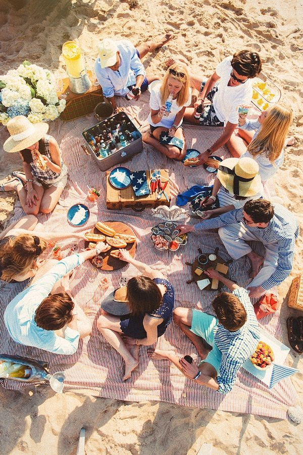 Beach picnic party!