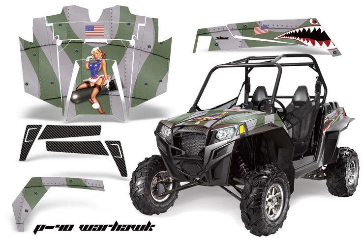 AMR Racing Polaris RZR 900XP Sticker Graphic Kit Decal UTV Parts 11-14 WARHAWK G