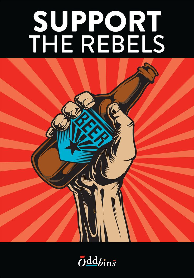 Support the Rebels Beer Poster