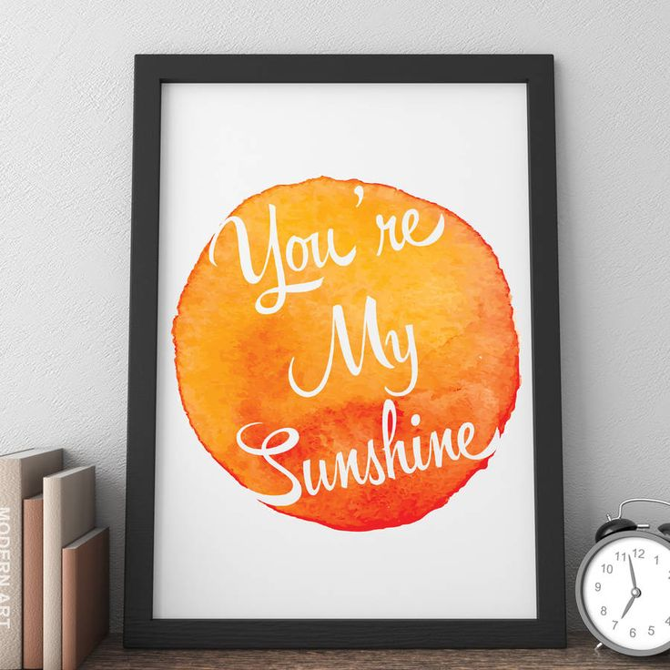 Personalised You're My Sunshine Watercolour Print