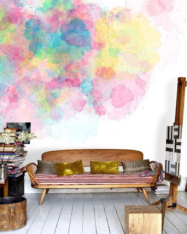Can't decide on a wall color? Go with all of them! #interiordesign #whynot | https://www.instagram.com/mrkatedotcom/