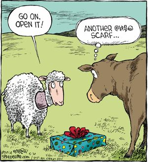 LOL! #knitting #knittinghumor #scarf Speed Bump Comic Strip, May 30, 2014 on GoComics.com