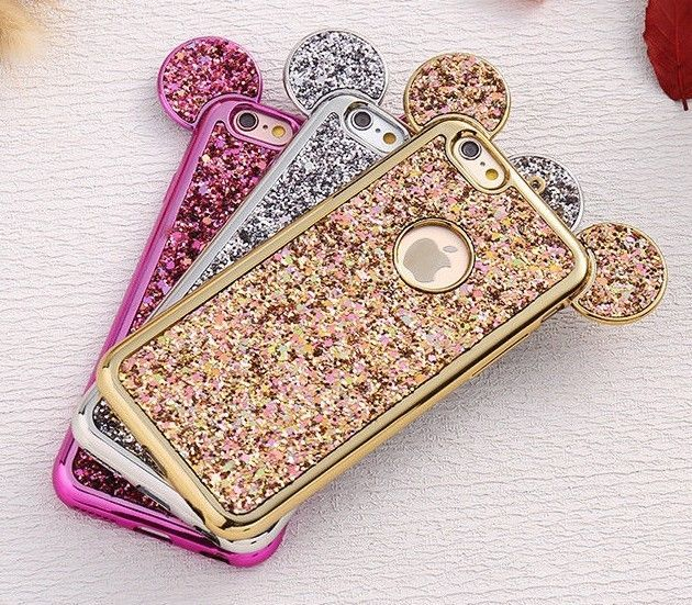 reputable site 49d43 55087 Estuche Para iPhone 5 5S SE Orejas de Ratón Diamantes Protector ...