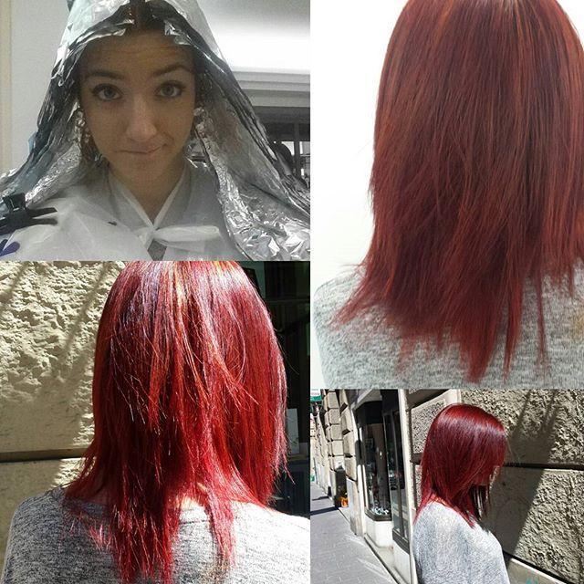 """Per ilenia nuovo taglio e nuovo colore . Il taglio con la nuova tecnica """"TAGLIO PUNTE E ARIA"""". #newcolor#cut#newhair#hair#instahair#instacut#tagliopuntearia#maesahairbeauty#picoftheday#redhair#madeinitaly"""