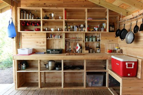 if only my garage could look like this with all my camp gear organized and visible...