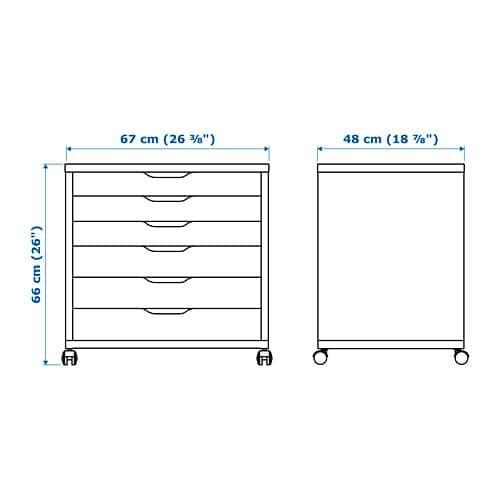 ALEX Drawer unit on casters, blue, 26 3