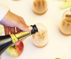 Crisp Apple Cider Bellinis