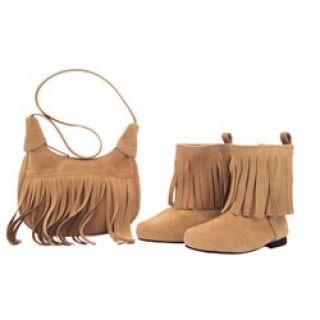 Fringe Benefits: A trip to Fort Edmonton Park was a blast into the past for Taryn and her friend Shannon, as she describes on her journal pages that accompany this fringed shoulder purse and boots.