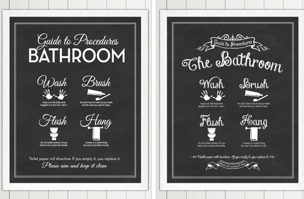 Functional Bathroom Art Print - 2 Styles! 4 Colors! 38% off at Groopdealz
