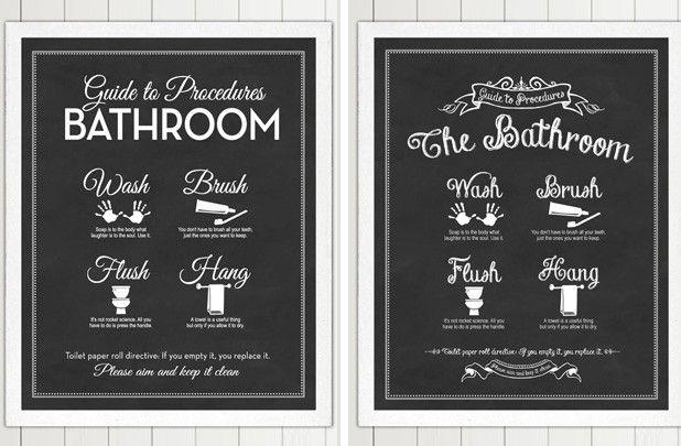 Functional Bathroom Art Print - 2 Styles! 4 Colors! 38% off at Groopdealz