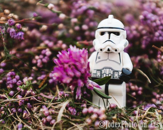 Star Wars Lego Stormtrooper 'Purple Flower' Photograph Print by JodexPhoto on Etsy