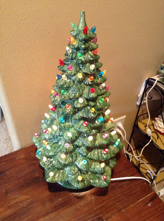21 Ceramic Christmas Tree by SmartsGoods on Etsy - reminds me of childhood Christmases