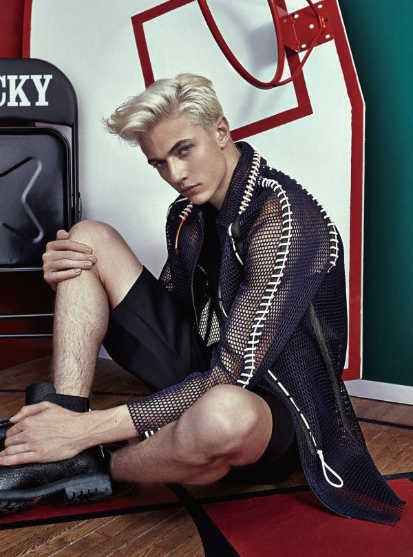 Lucky Blue Smith by Shxpir - Modern Weekly China, April 2015
