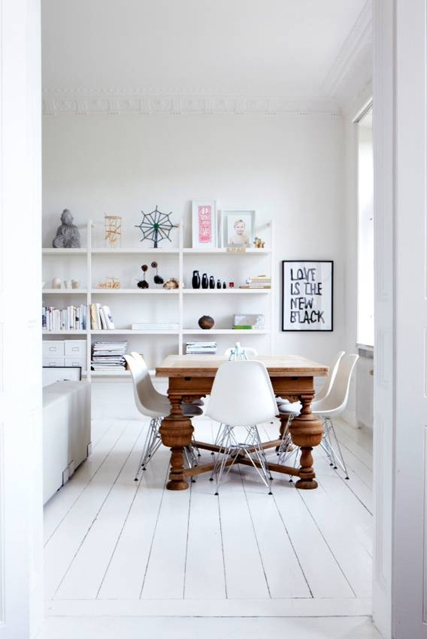 Eames Chairs With Traditional Table Home Decor New Meets Old