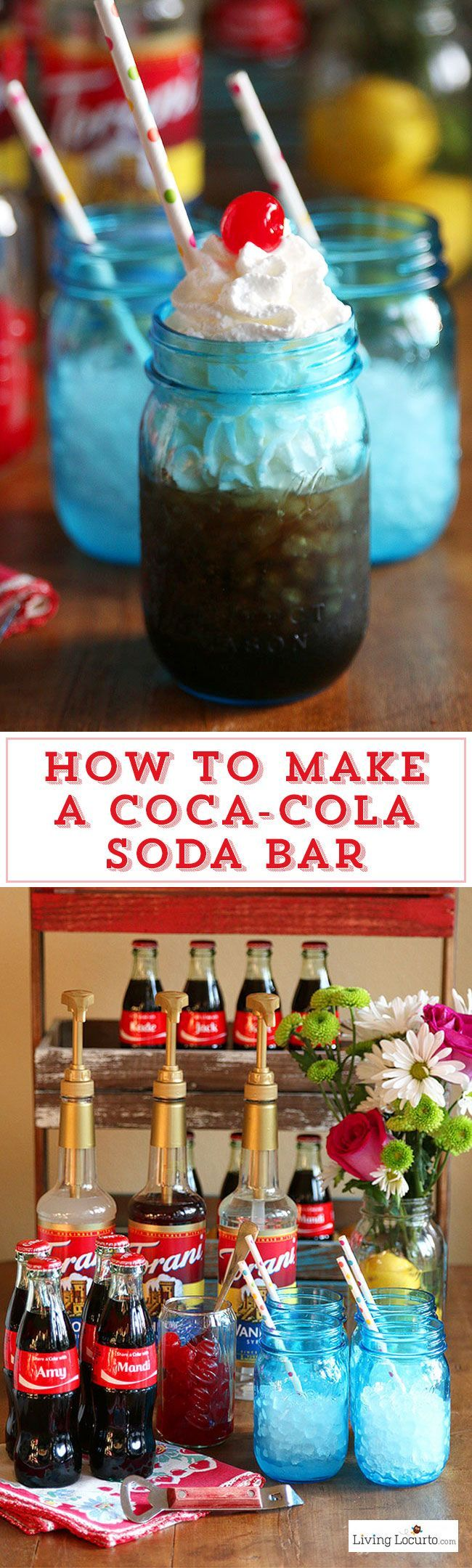 How to make a diy coca cola soda bar a fun and easy party for Fun easy party drinks