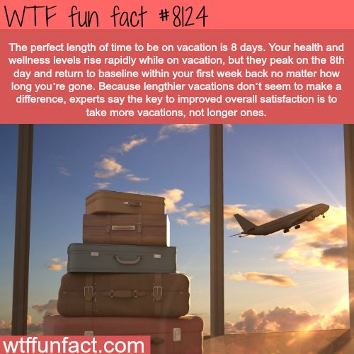 The perfect length vacation - WTF fun facts