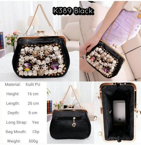 murah K389 Black