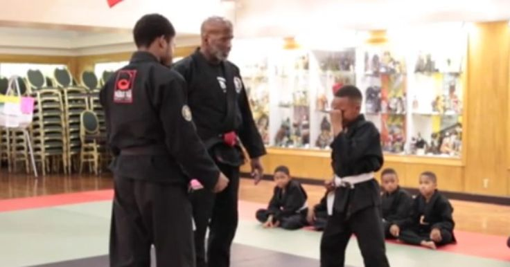 When this martial arts student started crying, his instructor taught him an important lesson.
