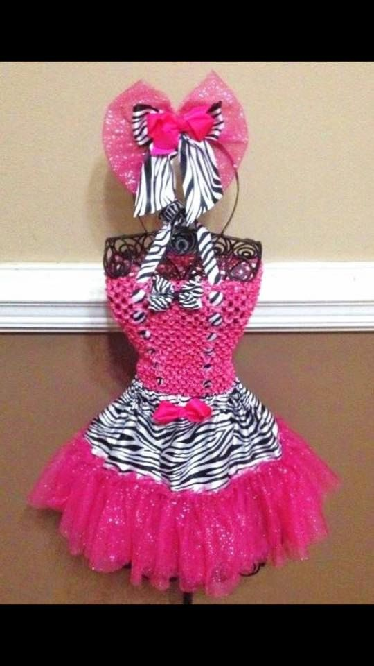 Hot Pink / Zebra Tutu Costume by AngelinaRoseInspired on Etsy
