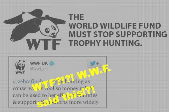 WWF (World Wildlife Foundation) SUPPORTS Trophy Hunting
