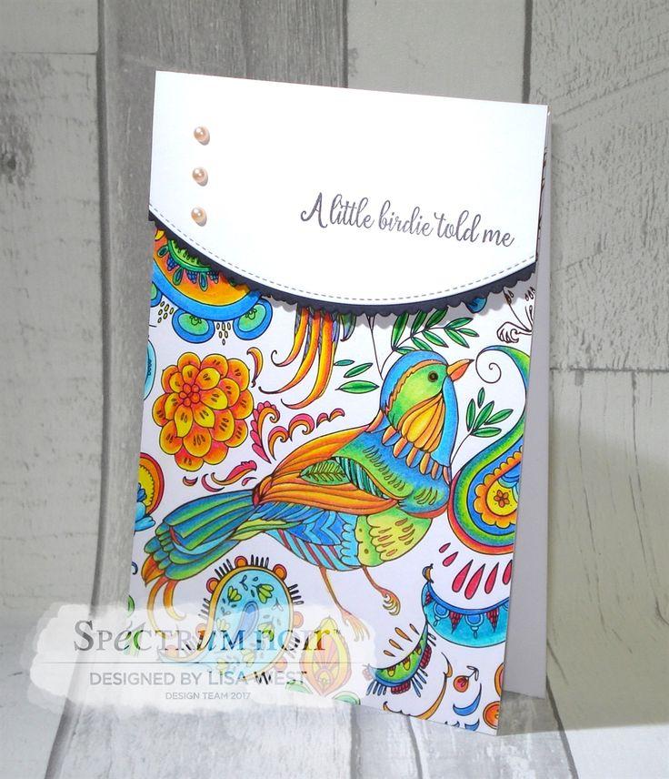 Designed by Lisa West using Spectrum Noir Colorista Natural Beauty A4 Pad Coloured using Colorista Pencils Sets 1-6  #spectrumnoir #crafterscompanion #coloring #colouring #papercraft #colorista
