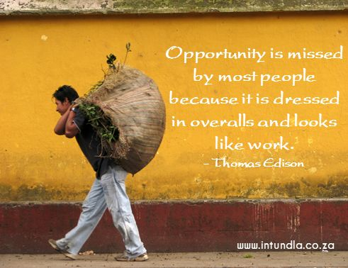 How do you see #Opportunity? Do you think you might miss some Opportunities that are staring you in the face?