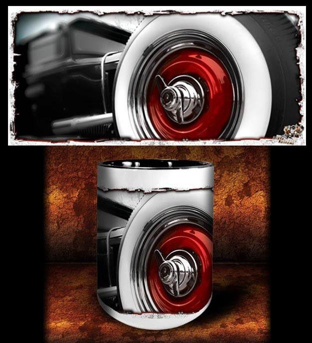 'Big Red' hot rod kustom coffee mug