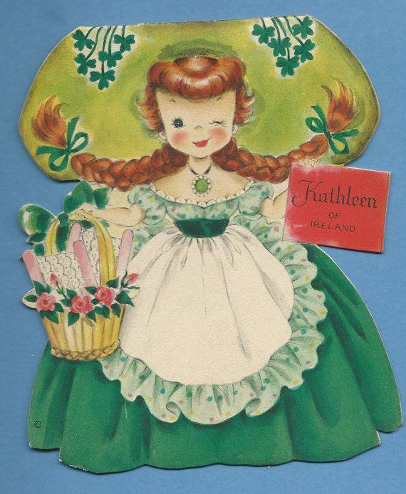 Kathleen of ireland hallmark vintage doll card from the - Hallmark espana ...