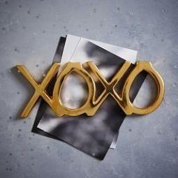 Brass Word Object - XOXO