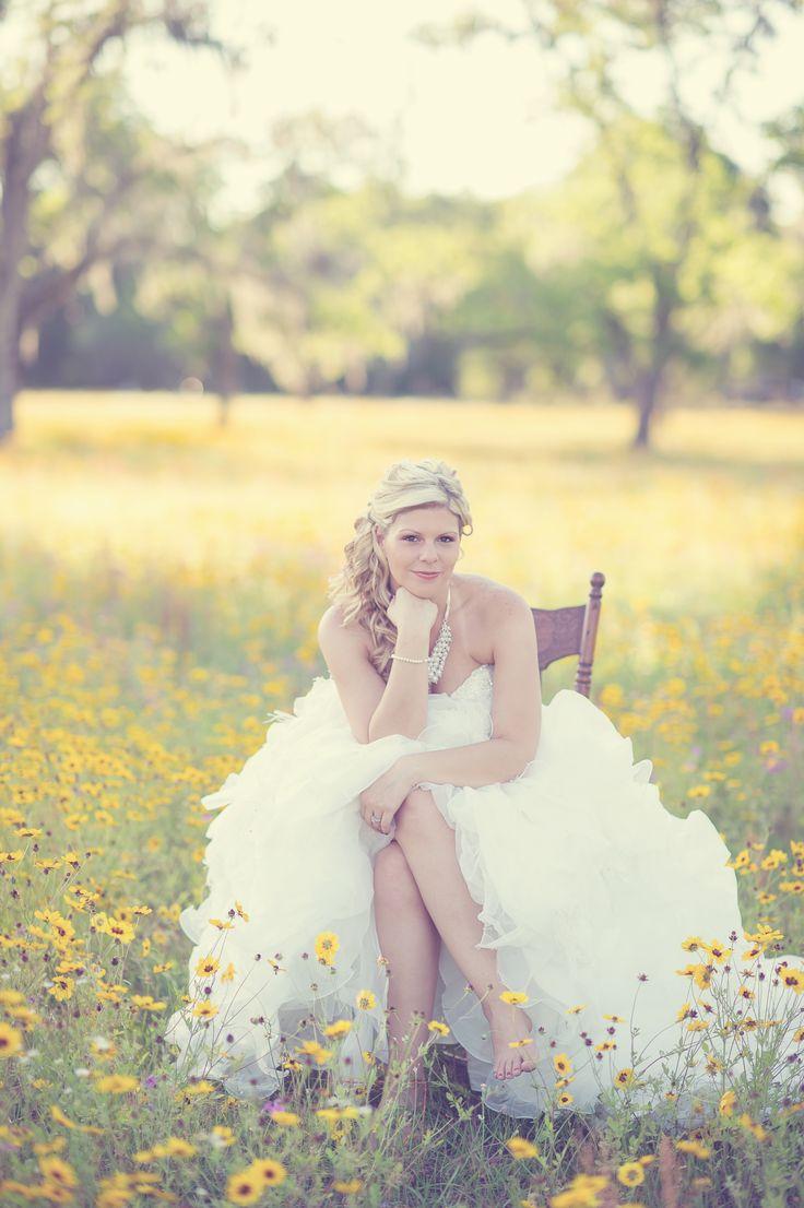 rustic wedding photography, southern weddings, vintage wedding photography, bride and groom portrait, bridal portrait, flower field wedding