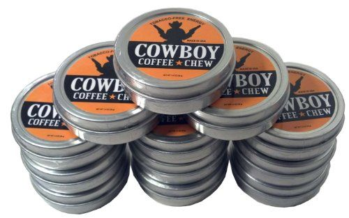 Cowboy Coffee Chew Pack of 12 Quit Chewing Tin Can Non Tobacco Nicotine Free Smokeless Alternative to Dip Snuff Snus Leaf >>> Read more  at the image link.