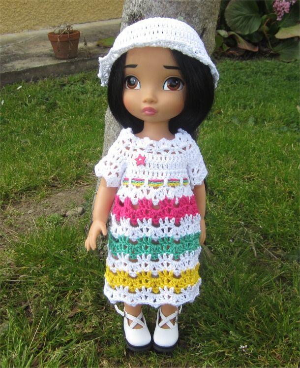 73- FICHE PATRON Tenue PEPS au crochet pour poupée Animator : Jeux, jouets par atelier-crochet