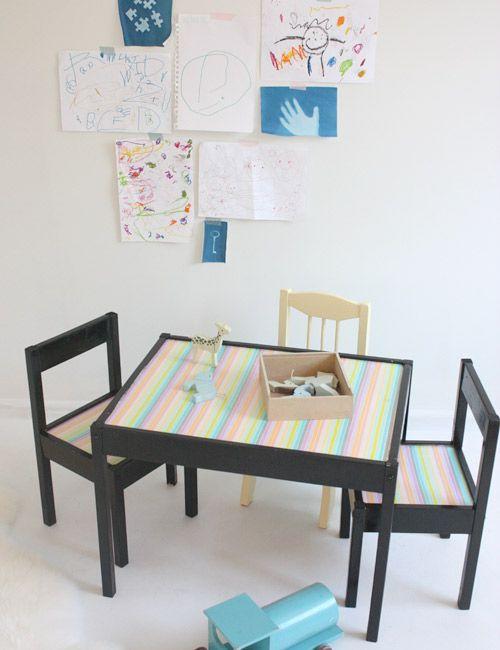 Un mont n de ideas para personalizar la serie de ikea l tt for Ikea mesa y sillas ninos