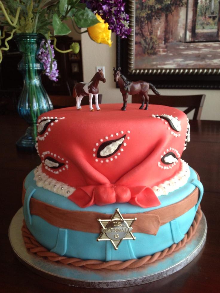 Cowboy fondant cake by Jessica