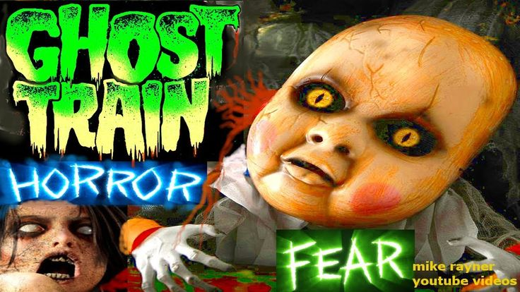 Scariest Ghost Train Ever! haunted ghosts trains, best scary roller coas...