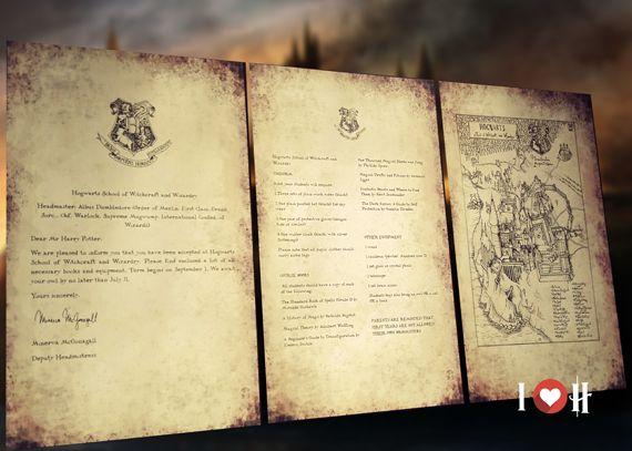 lettera di hogwarts personalizzata