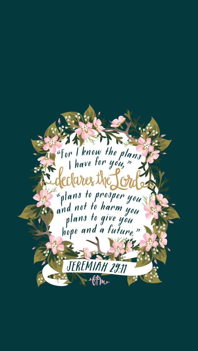 Jeremiah 29:11 by French Press Mornings #bible #verse #typography