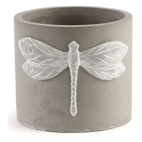 Napa Home Garden 55 Cement Dragonfly Cachepot 999 Liked On