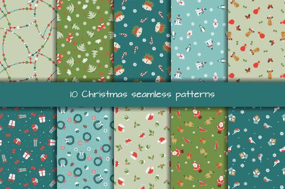 Christmas seamless patterns by romawka on @creativemarket