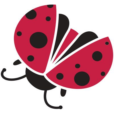 Ladybug Stencil for Ladybug Wall Decorations for Girls Room Wall Mural