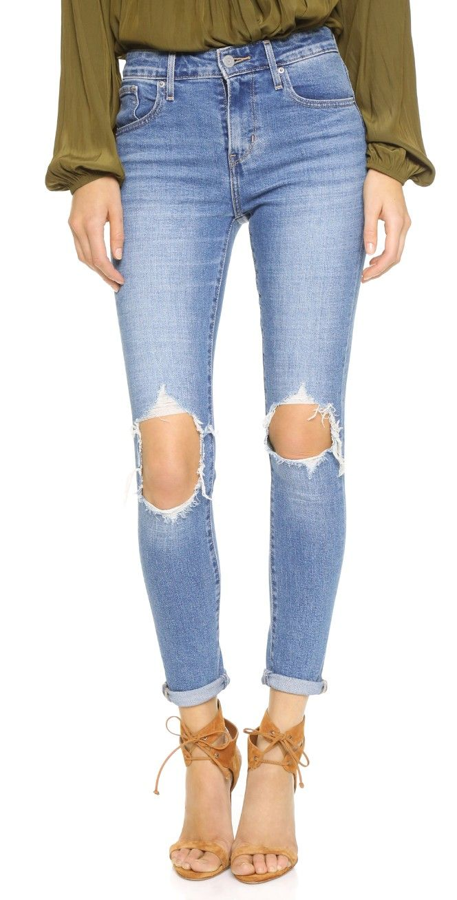 Levi's 721 High Rise Distressed Skinny Jeans   SHOPBOP SAVE UP TO 25% Use Code: BIGEVENT16