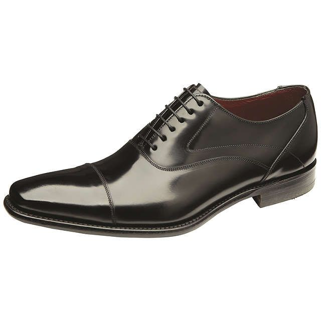BuyLoake Sharp Leather Shoes, Black, 7 Online at johnlewis.com