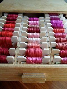 Floss Storage Organizational Ideas From U0026Stitches