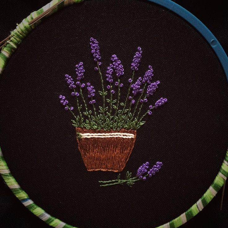 #embroidery #lavender #flower #madebyme #handembroidery