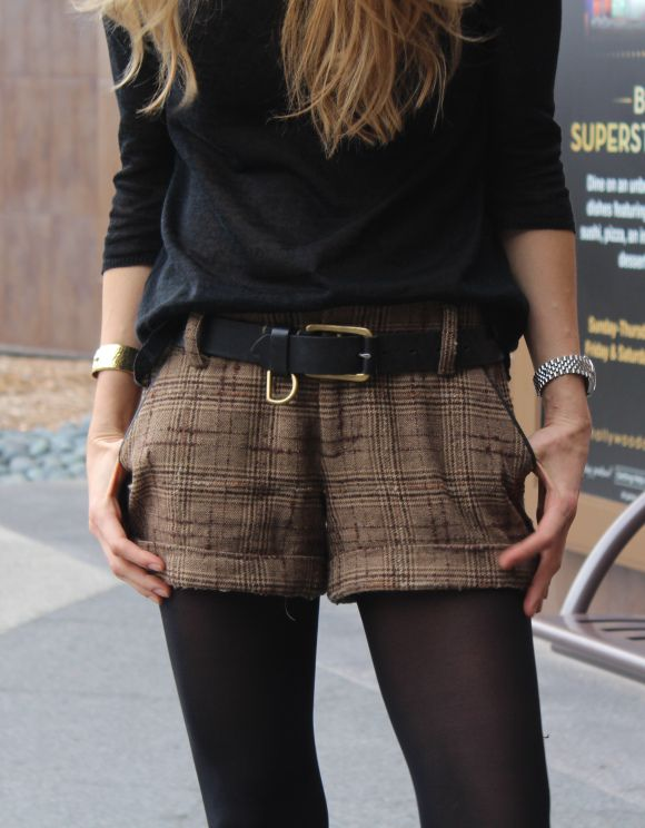 winter shorts and tights