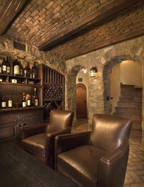 Cellar : Love the brick ceiling