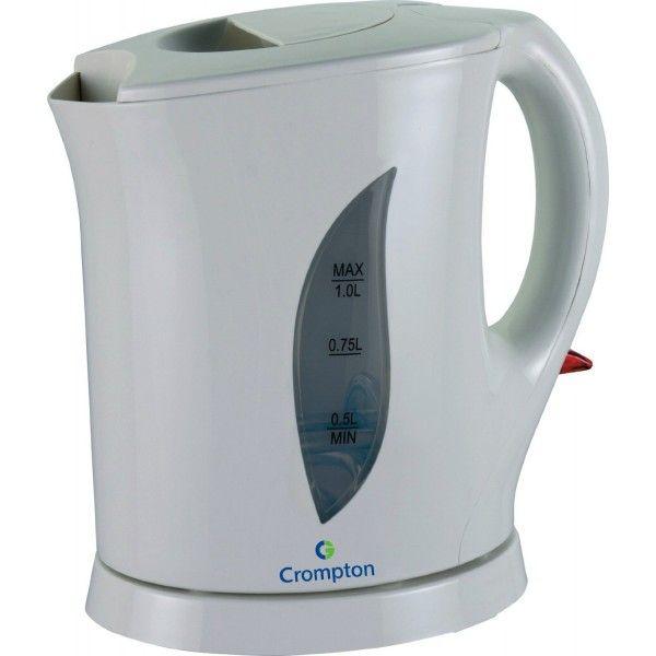 Crompton Greaves KP 101 1650-Watt Electric Kettle 1lt (White) - Electric Kettles - Electric - Kitchen & Dining