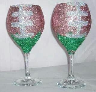 Football wine glasses