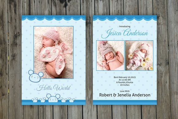 Best Birth Announcement Images On   Baby